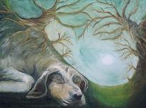 Schlaf, Mond, Unterirdisch, Baum