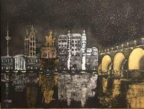 Spiegelung, Stadt, Abstrakt, Koblenz