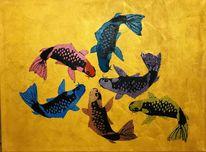 Bunt, Fisch, Gemeinschaft, Gruppe