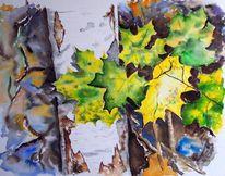 Herbst, Bunt, Baum, Blätter