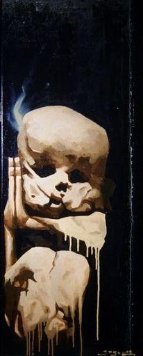 Endlichkeit, Körperlichkeit, Totensch, Skulptur