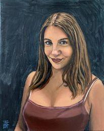 Malerei, Ölmalerei, Portrait,