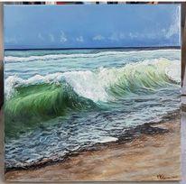 Meer, Strand, Welle, Sand