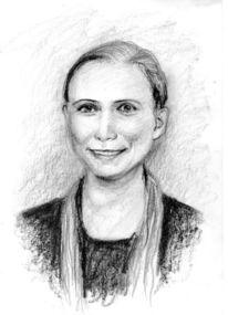 Zeichnen, Freunde, Bleistiftzeichnung, Amy2