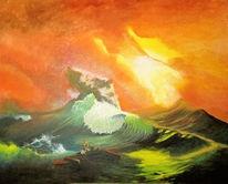 Ölmalerei, Sturm, Aiwasowski, Sacharow