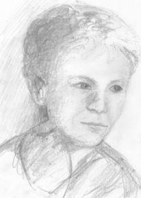 Zeichnung im profil, Portrait, Bleistiftzeichnung, Zeichnungen