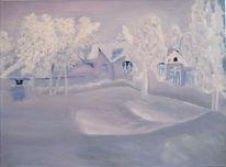 Schnee, Rodeln, Winter, Kindheit
