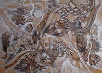 Acrylmalerei, Surreal, Zeichnung, Abstrakt