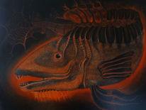 Pinsel, Fische, Liebe, Kupfer