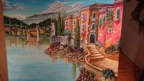 Meer, Landschaft, Acrylmalerei, Malerei