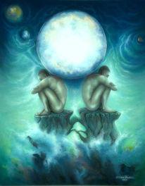 Mond, Universum, Einsamkeit, Meditation