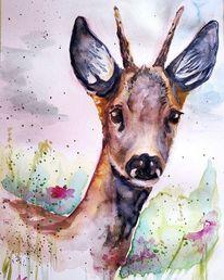Tiere, Wild, Reh, Wald