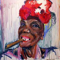 Zigarre, Havanna, Frau, Portrait