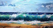 Strand, Landschaft, Welle, Wasser