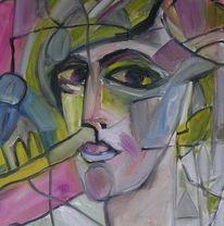 Augen, Frauenportrait, Portrait, Lila