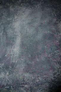 Spachteltechnik, Kratzen, Acrylmalerei, Fasadenfarbe