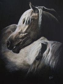 Isländer, Pferde, Acrylmalerei, Stute