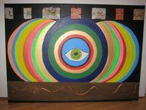 Auge psychedelisch essen, Malerei