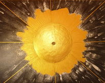 Energie, Sonne gold, Energiestein, Malerei