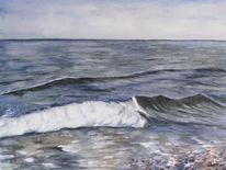 Meer, Strand, Ostsee, Welle