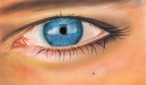 Grafik, Augen, Digital, Studie