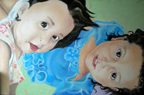 Augen, Portrait, Kinder, Kleid