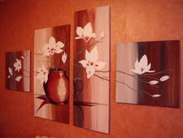 Acrylmalerei, Frieden, Blüte, Malerei