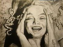 Marilyn monroe aquarell, Malerei