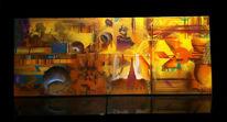 Graffiti auf leinwand, Malerei