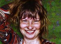 Bleistiftzeichnung, Portrait, Farben, Digitale kunst