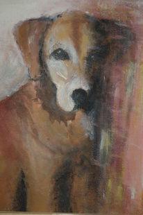 Dunkel, Hund, Braun, Malerei