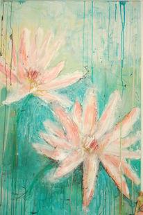 Pflanzen, Rosa, Blumen, Wasser