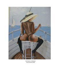 Malerei, Menschen, Mädchen, Meer