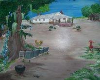 Geschichte, Bauernhof, Haus, Afro