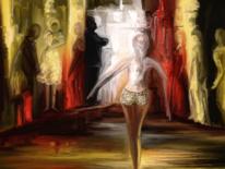 Frau, Fantasie, Malerei, Mann