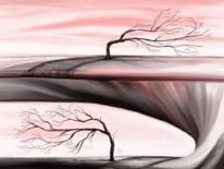 Baum, Ende, Fantasie, Malerei