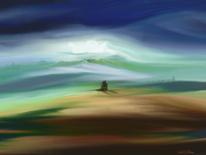 Landschaft, Fantasie, Ruhe, Malerei