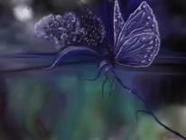 Nacht, Blumen, Fantasie, Digitale kunst