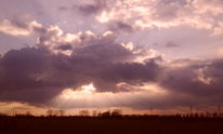 Sonne, Landschaft, Wolken, Sonnenstrahlen