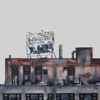 Architektur, Graffiti, Nyc, New york