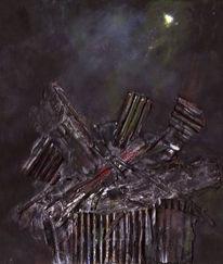 Müll, Verschrotten, Nacht, Welt