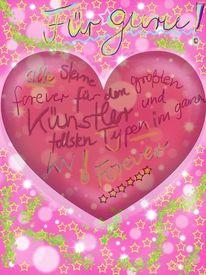 Stern, Guru, Ewig, Herz pink