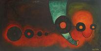 Glühwurm, Elefant, Weg, Rot abstrakt