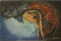 Zeitgenössische kunst, Vogel, Natur, Realismus
