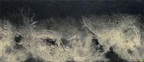 Schwarz weiß, Serie, Abstrakt, Ökogemälde