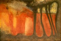 Abstrakt, Zeitgenössische malerei, Realismus, Recycling