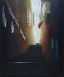 Dunkel, Ölmalerei, Ausstellung, Stimmung