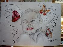 Kleinkind, Emotion, Tiere, Schmetterling