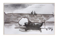 Aquarellmalerei, Landschaft, Farben, Pinsel