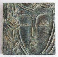 Gesicht, Relief, Natürlich, Zement